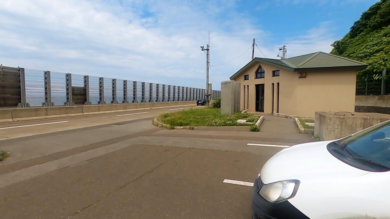 雄冬岬駐車場に車を停める