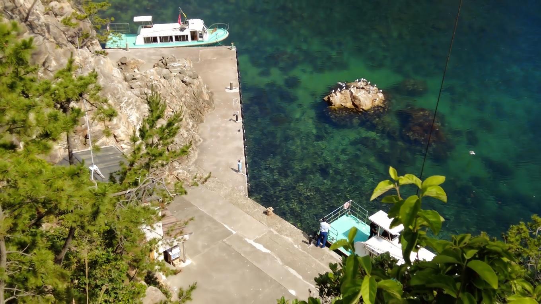 上から見ると 船に乗っている人が見える