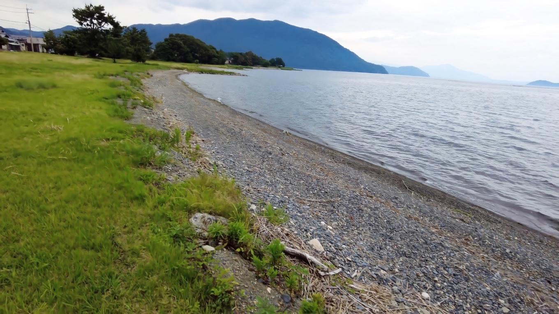 せっかくだから 琵琶湖畔を歩くことにした
