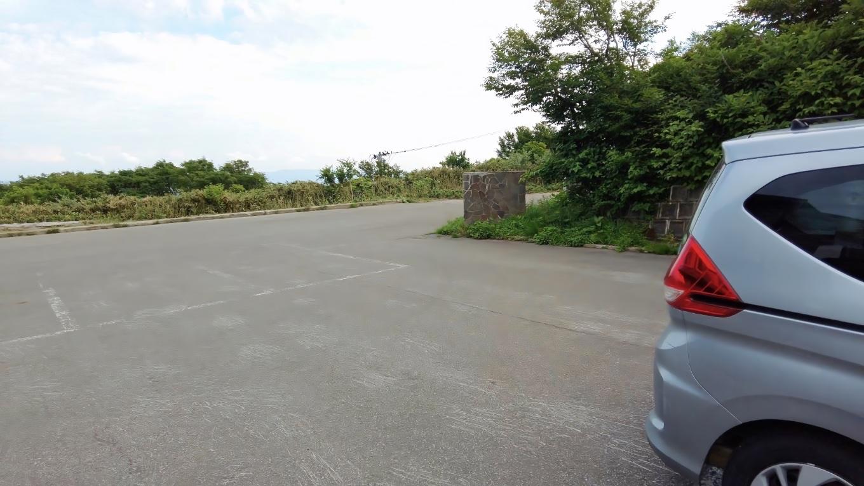 ドンデン山荘の駐車場に到着