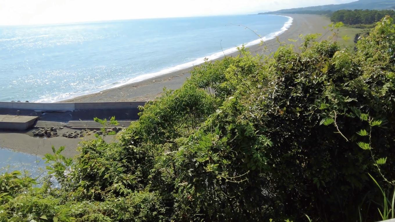 ここから琴ヶ浜の海岸線がきれいに見える