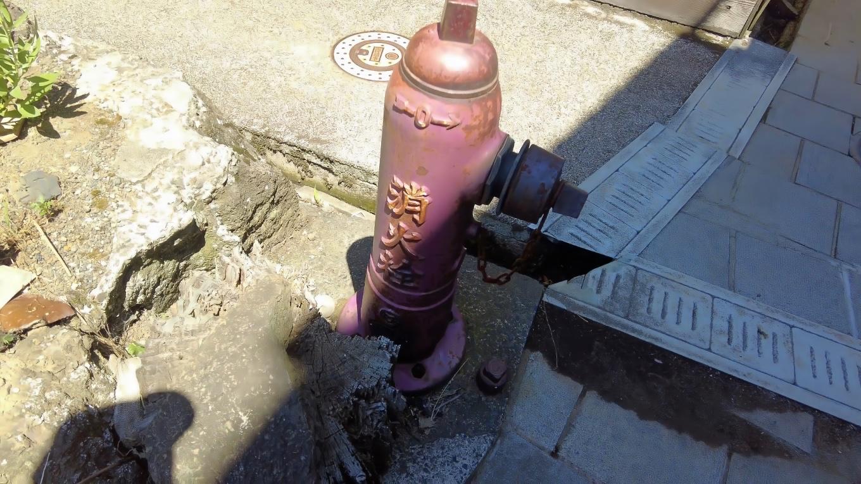 消火栓もレトロなデザイン